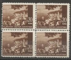 HR 1941-61 DEFINITIVE, CROATIA HRVATSKA, 4 X 1v, MNH - Croatia