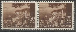HR 1941-62 DEFINITIVE, CROATIA HRVATSKA, 2 X 1v, MNH - Croatia