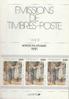 France - Notices Philatéliques De 1991 - Relié Et édité Par La Poste - Autres Livres