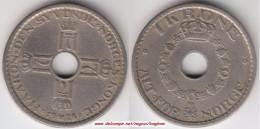 Norvegia 1 Krone 1925 Km#385 - Used - Norvège
