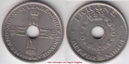 Norvegia 1 Krone 1946 Km#385 - Used - Norvegia