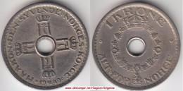 Norvegia 1 Krone 1949 Km#385 - Used - Norvegia