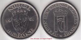 Norvegia 1 Krone 1951 Km#397.1 - Used - Norvegia