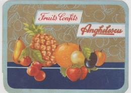Romania - Anghelescu - Fruits Confits - Reclama - Advertise - 125x90mm - Fruits & Vegetables