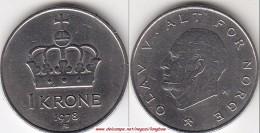 Norvegia 1 Krone 1978 KM#419 - Used - Norvegia