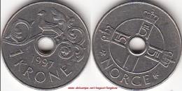 Norvegia 1 Krone 1997 KM#462.1 - Used - Norvegia