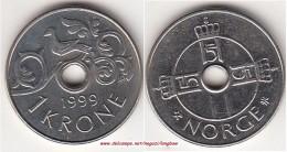 Norvegia 1 Krone 1999 KM#462.1 - Used - Norvegia