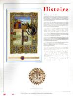 Feuillet D´art Tirage Limité 500 Exemplaires Frappe Or Fin 23 Carats 2494 Bloc 68 Histoire Belgo Hongroise - Feuillets