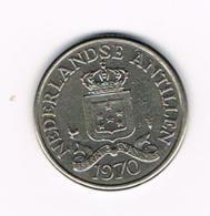 °°°  NEDERLANDSE ANTILLEN   25 CENTS  1970 - Antilles Neérlandaises