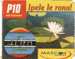 Botswana, Prepaid P 10 Card, Mascom - Botswana