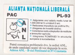 Romania Old Small Calendar - 1996 - 1997 - ANL - Tamaño Pequeño : 1991-00