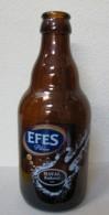 AC- EFES PILSEN BEER SPECIAL EDITION FOR HAYAL KAHVESI & GUITAR ILLUSTRATED EMPTY GLASS BOTLLE - Cerveza