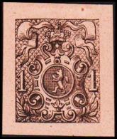 1866. Weapon.1 CENT. Essay. Black On Orange Paper.  (Michel: 20) - JF194642 - Probe- Und Nachdrucke