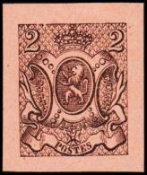 1866. Weapon.2 CENT. Essay. Black On Orange Paper.  (Michel: 21) - JF194654 - Probe- Und Nachdrucke