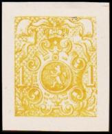 1866. Weapon.1 CENT. Essay. Yellow. (Michel: 20) - JF194648 - Probe- Und Nachdrucke