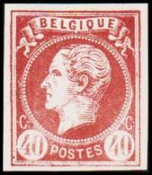 1865. Leopold I. BELGIQUE POSTES 40 CENTIMES Essay. Brown.     (Michel: ) - JF194607 - Probe- Und Nachdrucke