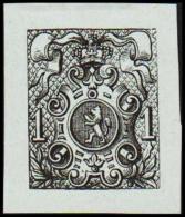 1866. Weapon.1 CENT. Essay. Black On Bluish Paper.  (Michel: 20) - JF194653 - Probe- Und Nachdrucke