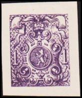 1866. Weapon.1 CENT. Essay. Violet. (Michel: 20) - JF194646 - Probe- Und Nachdrucke