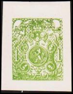 1866. Weapon.1 CENT. Essay. Green. (Michel: 20) - JF194644 - Probe- Und Nachdrucke
