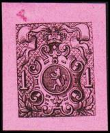 1866. Weapon.1 CENT. Essay. Black On Rosa Paper.  (Michel: 20) - JF194643 - Probe- Und Nachdrucke