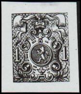 1866. Weapon.1 CENT. Essay. Black On Bluish Paper.  (Michel: 20) - JF194649 - Probe- Und Nachdrucke