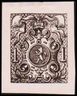 1866. Weapon.1 CENT. Essay. Black On Rosa Paper.  (Michel: 20) - JF194650 - Probe- Und Nachdrucke