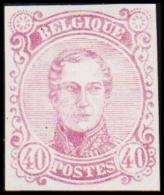 1860. Leopold I. Medailion. 40 CENT Essay. Violet. (Michel: ) - JF194382 - Probe- Und Nachdrucke