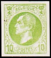 1865-1866. Leopol I. 10 CENTS Essay. Green.  (Michel: ) - JF194383 - Probe- Und Nachdrucke