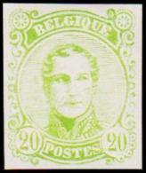 1860. Leopold I. Medailion. 20 CENT Essay. Green (Michel: ) - JF194379 - Probe- Und Nachdrucke