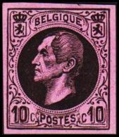 1865-1866. Leopol I. 10 CENTS Essay. Black On Rosa Paper. (Michel: ) - JF194386 - Probe- Und Nachdrucke