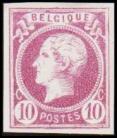 1865-1866. Leopol I. BELGIQUE POSTES 10 CENT Essay. Violet. (Michel: ) - JF194492 - Probe- Und Nachdrucke