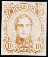 1860. Leopold I. Medailion. 10 CENT Essay. Brown. (Michel: ) - JF194376 - Probe- Und Nachdrucke