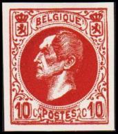 1865-1866. Leopol I. 10 CENTS Essay. Redbrown. (Michel: ) - JF194389 - Probe- Und Nachdrucke