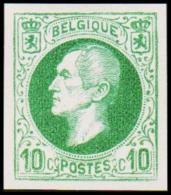 1865-1866. Leopol I. 10 CENTS Essay. Dark Green. (Michel: ) - JF194385 - Probe- Und Nachdrucke