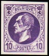 1865-1866. Leopol I. 10 CENTS Essay. Lilac. (Michel: ) - JF194393 - Probe- Und Nachdrucke