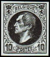 1865-1866. Leopol I. 10 CENTS Essay. Black On Bluish Paper. (Michel: ) - JF194391 - Probe- Und Nachdrucke