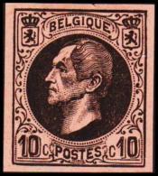 1865-1866. Leopol I. 10 CENTS Essay. Black On Orangered Paper. (Michel: ) - JF194392 - Probe- Und Nachdrucke