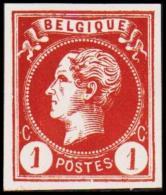 1865-1866. Leopol I. BELGIQUE POSTES 1 CENT Essay. Redbrown. (Michel: ) - JF194483 - Probe- Und Nachdrucke