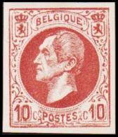 1865-1866. Leopol I. 10 CENTS Essay. Brown. (Michel: ) - JF194390 - Probe- Und Nachdrucke