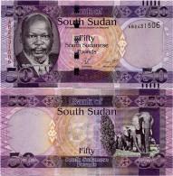 SOUTH SUDAN     50 South Sudanese Pounds    P-9    ND (2011)    UNC  [ Sud - Sur ] - Sudan Del Sud