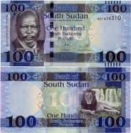 SOUTH SUDAN     100 South Sudanese Pounds    P-15     2015     UNC  [ Sud - Sur ] - Sudan Del Sud