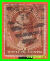 AMERICA E.E.U.U.  UNITED STATES   SELLO DE WASHINGTON   2 CENTS AÑO 1883 - América Central