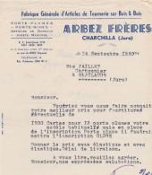 """Facture De  La  Fabrique D´articles De Tournerie """" Arbez  Frères"""" à Charchilla  Dans La Jura  En...1950 - Frankrijk"""