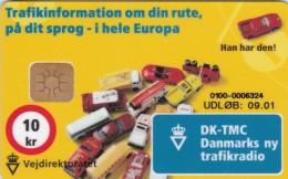 Denmark, DB 062, 10kr, Vejdirektoratet, Cars, Only 1500 Issued, 2 Scans. - Danimarca