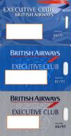 ETIQUETTES A BAGAGES NOMINATIVES BRITISH AIRWAYS  Executive Club  (lot De 3) - Étiquettes à Bagages