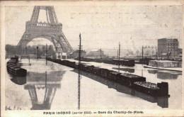 Paris Inonde Janvier 1910 - Crue De La Seine - Gare Du Champ De Mars - R/V - - Überschwemmung 1910