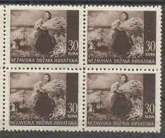 HR 1941-63 DEFINITIVE, CROATIA HRVATSKA, 4 X 1v, MNH - Croatia