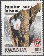 Rwanda 1988 Michel 1406 O Cote (2005) 3.00 Euro 125 Ans Croix-Rouge Docteur Cachet Rond - Rwanda