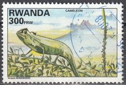 Rwanda 1995 Michel 1464A O Cote (2005) 7.50 Euro Caméléon Cachet Rond - Rwanda