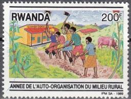 Rwanda 1989 Michel 1420 O Cote (2005) 5.00 Euro Agriculture Cachet Rond - Rwanda